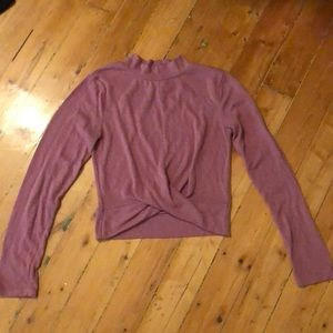 Long sleeved pink top